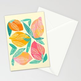 Abstract Mango Stationery Cards