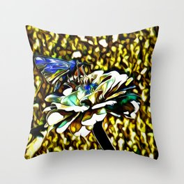 The Skipper Butterfly As A Jewel Throw Pillow