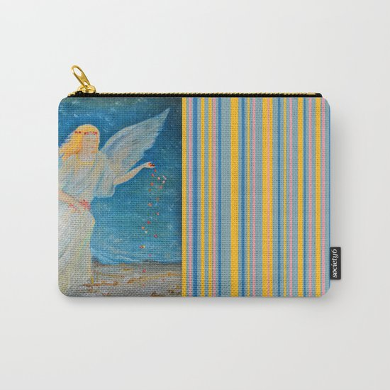 Bless me | Guardian Angels are Here | Angel of Abundance | Love Carry-All Pouch