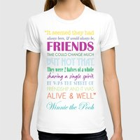 winnie the pooh T-shirts featuring Winnie the Pooh Friendship Quote - Bright Colors by Jaydot Creative
