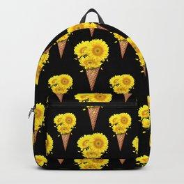 Sunflowers on black Backpack