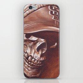 skull and cap iPhone Skin