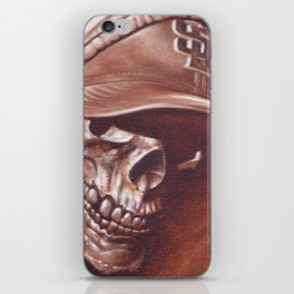 skull and cap iPhone Skin
