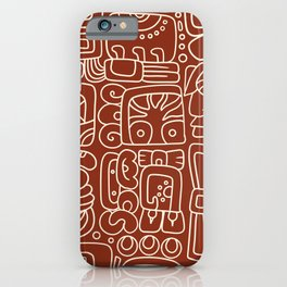 Mayan Lorem Ipsum II iPhone Case