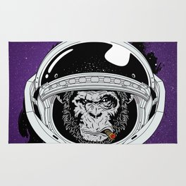 Monkey in space Rug