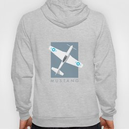 P-51 Mustang Fighter Aircraft - Slate Hoody
