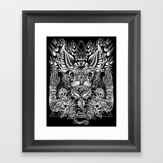 Haunter of the Dark Framed Art Print