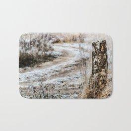 Winter road Bath Mat