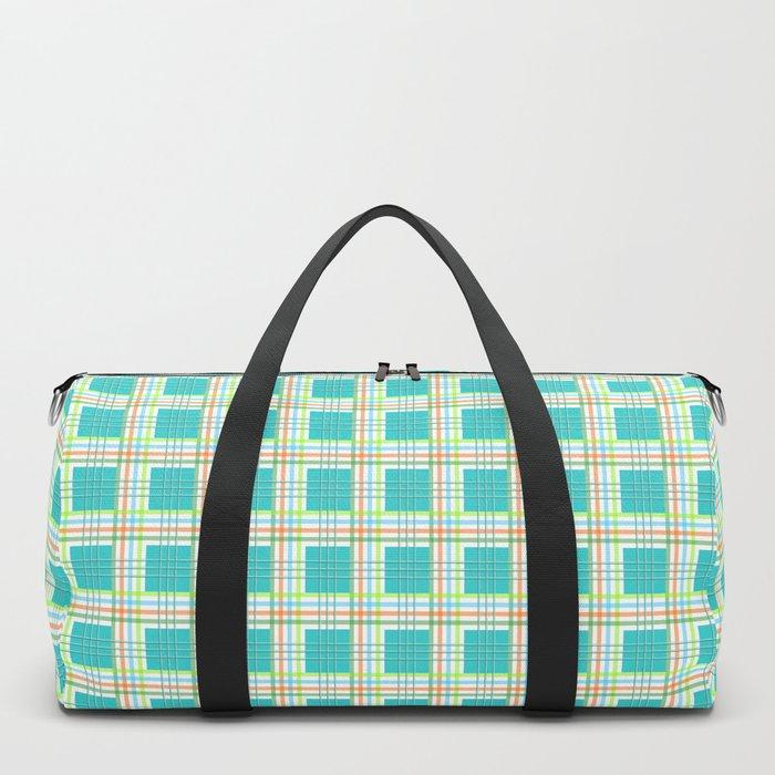 AFE Modern Plaid Pattern Duffle Bag