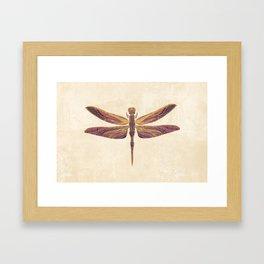 Art Nouveau Dragonfly In Purple Framed Art Print
