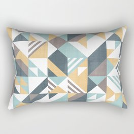 Squares and stripes geomertic pattern Rectangular Pillow