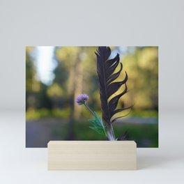 Raven Feather Mini Art Print