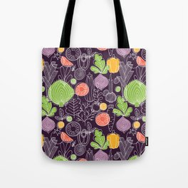 Vegetable Pattern Scandinavian Design Tote Bag