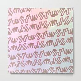 Pattern goes uphill Metal Print