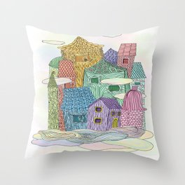 Live In The Sky II Throw Pillow