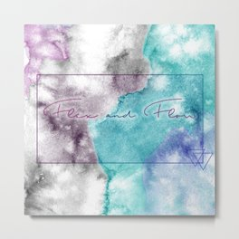 Flex and Flow - Tie Dyed, Water Colour, Motivation Metal Print