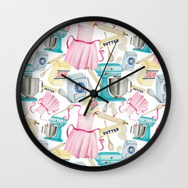 Stay Home and Bake Wall Clock
