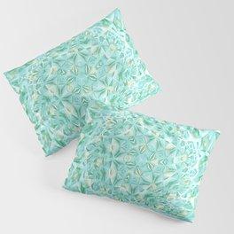 Green Blue Magic Mosaic Circulation Pillow Sham