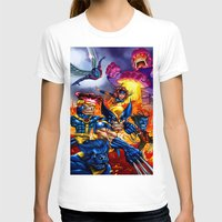 x men T-shirts featuring X - MEN by Vincent Trinidad