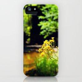 Creek Flowers iPhone Case