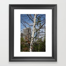 City in the branches Framed Art Print
