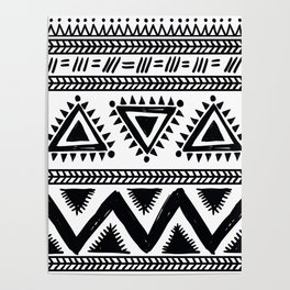 Tribal black and white Poster