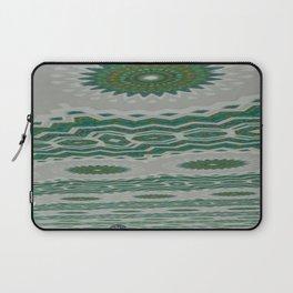 Green and Snowblue Egg 1 Laptop Sleeve