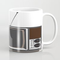 tv Mugs featuring Television by Jarom Ward
