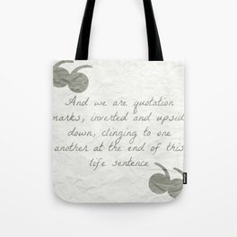 Quotation Marks Tote Bag