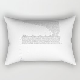 Erosion & Typography 3 Rectangular Pillow