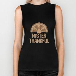 Mister Thankful T-Shirt Turkey Thanksgiving Holiday Biker Tank