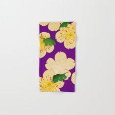 Purple Japanese Floral Vintage Pattern Hand & Bath Towel