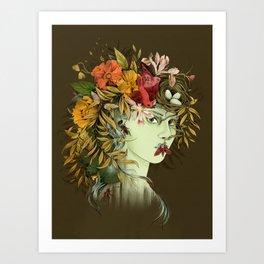 Persephone, goddess of Spring Art Print
