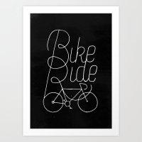 Bikeride Art Print