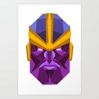 thanos Art Prints featuring THANOS by rybbrybson