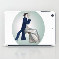 pride and prejudice iPad Cases featuring Fashion Illustration - Pride & Prejudice by BeckiBoos