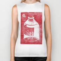 whisky Biker Tanks featuring Ol' Whisky Bottle by Shane Haarer