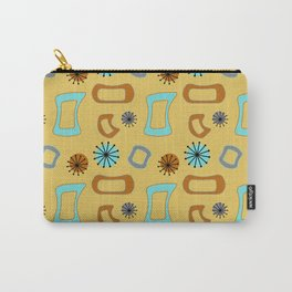 Mid Century Modern I in Mustard Yellow Carry-All Pouch