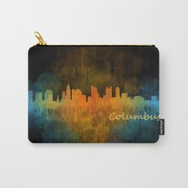 Columbus Ohio, City Skyline, watercolor  Cityscape Hq v4 Carry-All Pouch