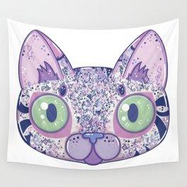 Chromatic Cat II (Purple, Blue, Pink) Wall Tapestry