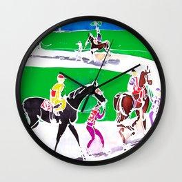 At the Races           by Kay Lipton Wall Clock