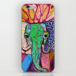 Elephant of Power iPhone Skin