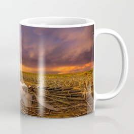 Lost In Time - Broken Windmill and Stormy Sky in Kansas Coffee Mug