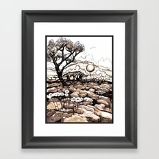 Moonlight Ride - Black and White Rendition Framed Art Print