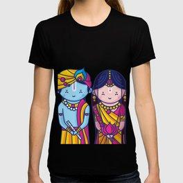 Cute Radha Krishna T-shirt
