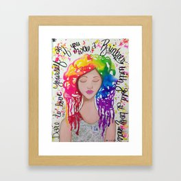 Rainbow Girl Framed Art Print