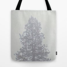 Blurry Pine Tree from a Mountain Town Tote Bag