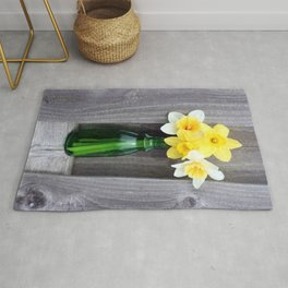 Daffodils in a Vase Rug
