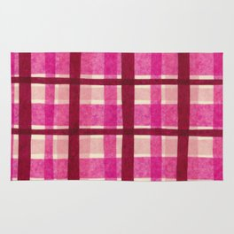 Tissue Paper Plaid - Pink Rug