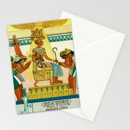 Vintage 1933 Belgian Egyptian Motif Isis Osiris Liebig's Beef Extract Lithograph Advertisement Poste Stationery Cards